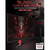 RAEAN Tech Blaze G32CF165 CURVED Zero Gaming Monitor, Bezel-Less, Free Sync (Adaptive SYNC), 165Hz FHD / 1msGTG (OD), Gaming Mode (Cross Hair Target), PIP/PBP, HDMI, Flicker Free, Anti-Glare