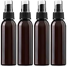 4 oz Amber PET (plastic) Empty Spray Bottle- Pack of 4
