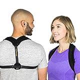 Back Brace Posture Corrector for Women & Men - Discreet & Comfortable Upper Back Straightener - Adjustable Trainer for a Healthy Natural Posture & Improved Confidence (Large)