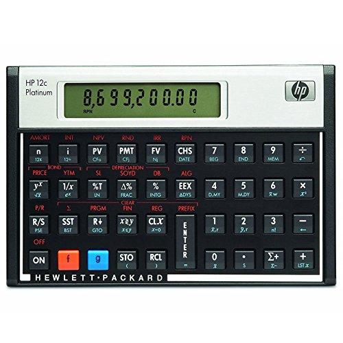 - HP F2231AA 12c Platinum Financial Calculator, 10-Digit LCD