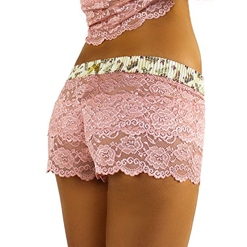 French Rose Lace Boxer | Royal Crown Print (Crimson Merlot)