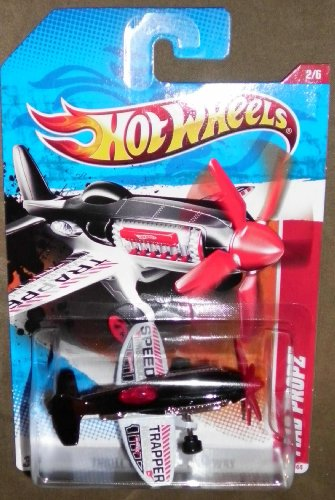 Hot Wheels 2011 Thrill Racers Mad Propz (Airplane) 188/244, Black and ()