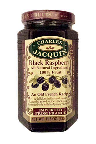 Charles Jacquin French All Natural Fruit Spread 11.5 Ounce Imported From France (Black Raspberry)