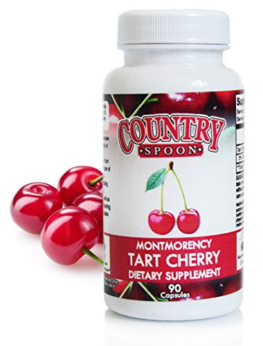 Tart Cherry Capsules - Made with Montmorency Tart Cherries, 90 Vegetarian Capsules by Country Spoon