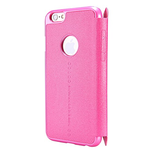 (HS-TOP  ® Funken Conque NILLKIN case cover PU-Leder case Hülle für Apple iPhone 6 (4.7 Zoll), Rot