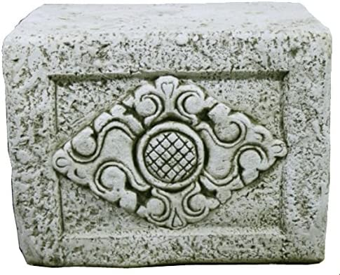 DEGARDEN Figura Pedestal Buda Grande Placer Oriental de hormigón-Piedra para jardín o Exterior 53X40cm. Ceniza: Amazon.es: Jardín