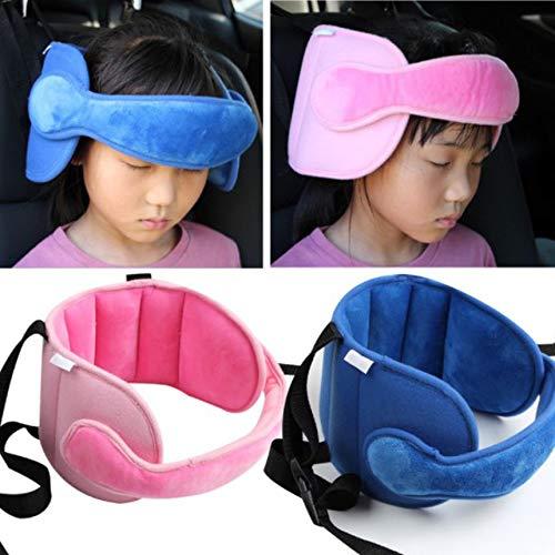 Cochecito para ni/ños Asiento de seguridad para el autom/óvil Cintur/ón para dormir Productos de cuidado para ni/ños Cintur/ón de sujeci/ón para el soporte de la cabeza Bady de 1 pieza Rosa