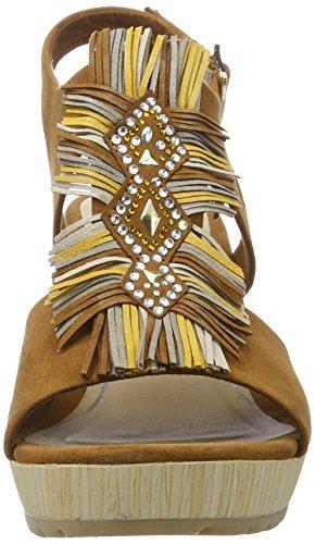 Marco Tozzi 28333, Sandalias con Cuña para Mujer Marrón (Cognac Comb 392)