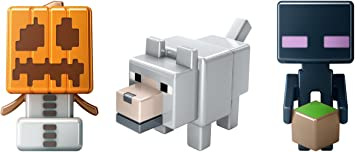 Mattel Minecraft Mini-Figures 3 Pack Snow Golem, Enderman and Wolf: Amazon.es: Juguetes y juegos