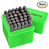 """Ultimate Letter & Number Stamp Set 36pcs (A-Z & 0-9) Industrial Grade Hardened Carbon Steel Metal Punch Set - 1/8"""" (3MM) Characters - Perfect for Imprinting Metal, Wood, Plastic, Leather, and More!"""