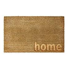 DII Fun Greetings Décor Indoor/Outdoor Natural Coir Fiber Doormat, 18x30, Home Engraved