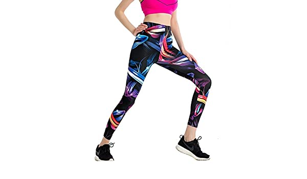 JIALELE Pantalon Yoga Pantalones De Yoga Chica Chica Sello Apretado  Ejecutando Fitness Deportes De Secado Rápido De Cintura Alta Video Fino Haz  Pierna ... b88ef564de7b