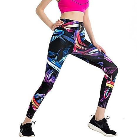 JIALELE Pantalon Yoga Pantalones De Yoga Chica Chica Sello Apretado  Ejecutando Fitness Deportes De Secado Rápido 97cf8d0283a3