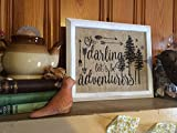 Beautiful on your mantle or wall, will be this lovely quote printed on genuine burlap. Rustic and charming, this will be a well loved piece in your home for years to come! This print features lovely silhouettes and vintage arrow accents. Orde...