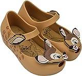 Mini Melissa Girls' Mini Ultragirl+Bambi Ballet Flat, Caramel, 11 Medium US Toddler