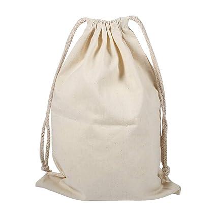 Bolsas de Cordón de Algodón, Bolsa de Tela para Saco de lavandería con cordón de algodón para el hogar para Uso doméstico de Viaje(22 * 28cm)