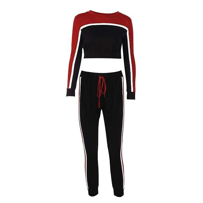 Toimoth 2Pcs Women Sport Tracksuit Sweatshirt Pants Sets Long Sleeve Wear Casual Suit at Amazon Womens Clothing store: