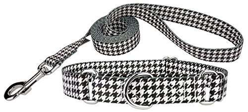 (Country Brook Petz | Houndstooth Martingale Dog Collar & Leash - Small)