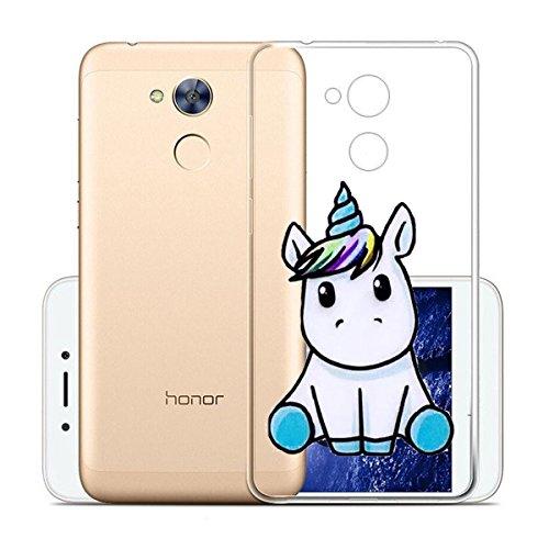 Huawei Honor 6A Funda , IJIA Ultrafino Transparente Sencillo pausas Musicales TPU Silicona Suave Cover Tapa Caso Parachoques Carcasa Cubierta para Huawei Honor 6A LF22