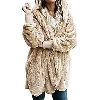 ackkia bolsillos Casual Draped de la mujer frente abierto Oversized–Abrigo con capucha chaqueta de punto