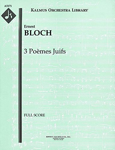 3 Poèmes Juifs: Full Score [A5171] by E.F.Kalmus