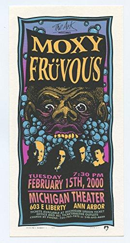 Moxy Fruvous Handbill 2000 Feb 15 Michigan Theater Mark Arminski