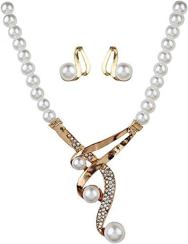 QIYUEQI Regalos San Valentin Mujer Collar Colgante Libre de Alergias con Delicadas Joyero Perla 2-Pack Gold Pack: Amazon.es: Joyería