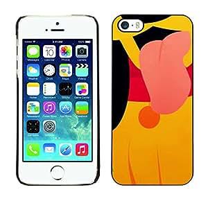 """For Apple iPhone 5 / iPhone 5S Case , Carácter lindo perrito de la historieta Amarillo"""" - Diseño Patrón Teléfono Caso Cubierta Case Bumper Duro Protección Case Cover Funda"""