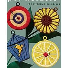 Twenty Four Potholders to Crochet - Vintage Potholder Crochet Patterns - Ladybug, Duck, Fish, Pig, Sunflower Potholders and More
