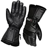 Thermal Motorbike Motorcycle Leather Gloves Waterproof Protection Winter Summer (L)