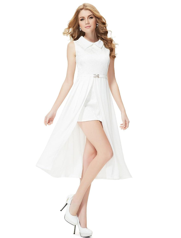 Ever Pretty Damen Lace Hemd Kragen Gespaltet Kurz Party Kleid 08275 ...