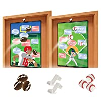 KOVOT Over The Door Sports Game Set - Includes A Baseball And Football Hanging Game