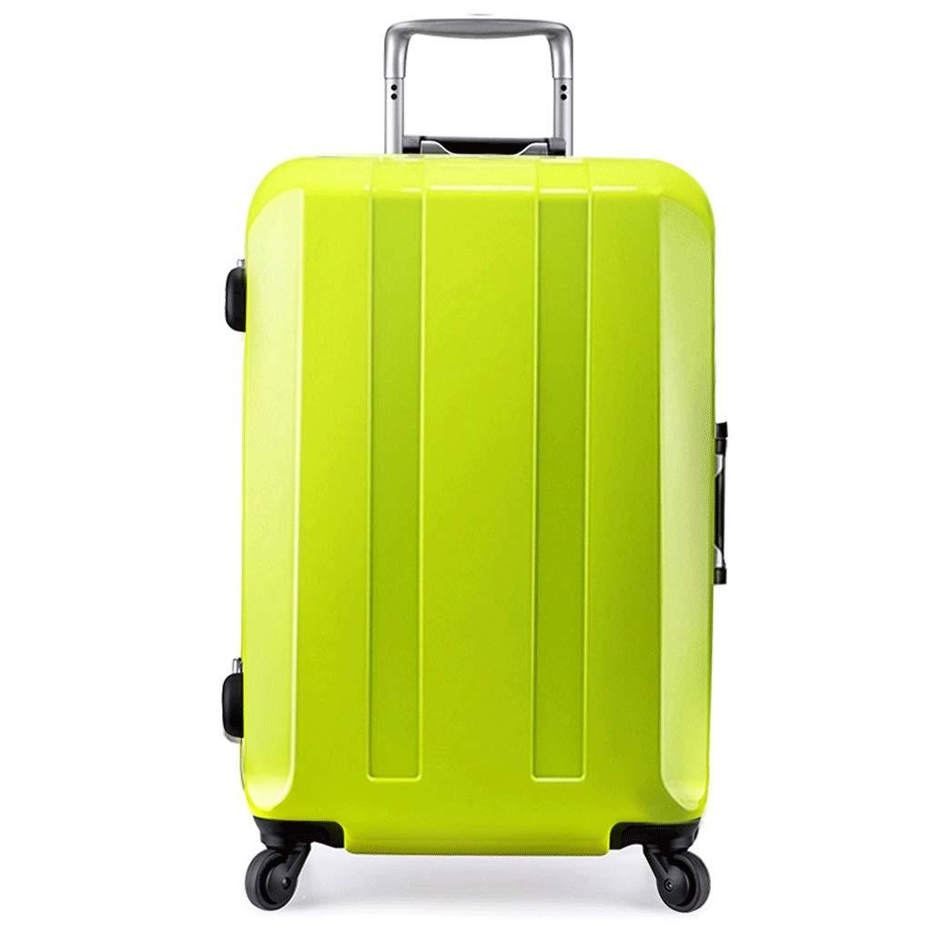 トロリーケース PC 素材 ハイエンド スーツケース 旅行 スーツケース パスワード スーツケース 配送ボックス ユニバーサルホイール (カラー:グリーン、サイズ:22インチ) B07Q3KL1W4