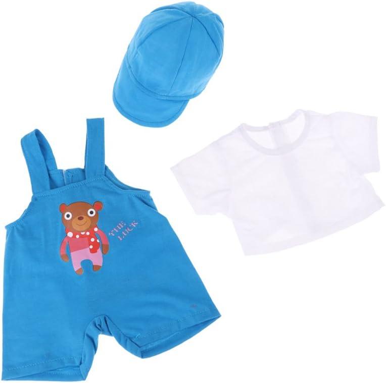 magideal Mode Tres piezas muñeca ropa traje – Camiseta de tirantes ...