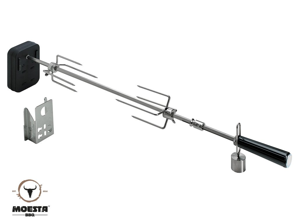 Rotisserie-Set für Smokin' PizzaRing (47 - 50 cm)