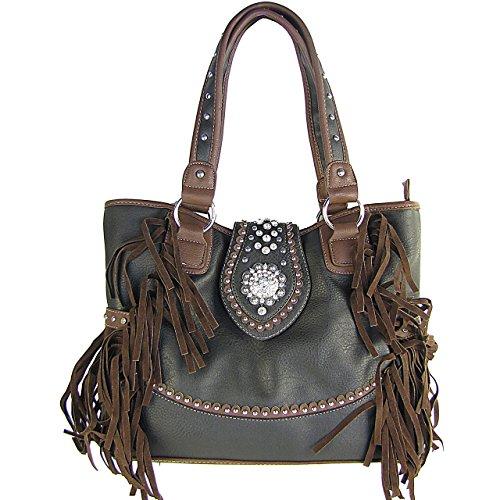 Zebra Print Bucket Bag (Fringe Western Bucket Tote Handbag Black)
