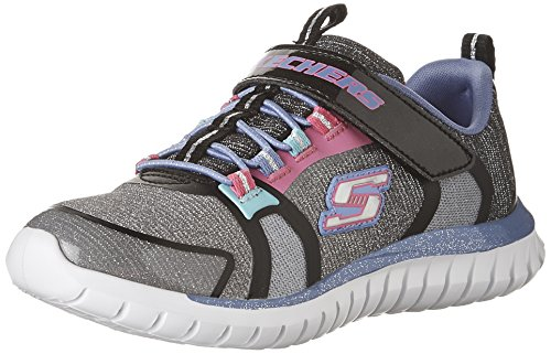 Skechers Kids Girls' Speed Trainer-Glimmer Time Sneaker,Black/Multi, (Girls Trainers Childrens)