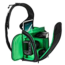 ABC® Sling Camera Bag Waterproof DSLR Case for Canon for Nikon for Sony (Green)