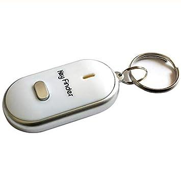 PoeHXtyy - Llavero localizador de llavero con luz LED para encontrar las llaves perdidas, blanco
