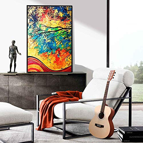 kergu 17.7 x 26.6inch Oil Painting House Canvas Wall Art Landscape Painting Print on Canvas Wall Decoration Abstract Tree
