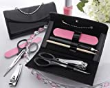 ''Little Black Purse'' Patent-Leather Five-Piece Manicure Set - Baby Shower Gifts & Wedding Favors (Set of 48)