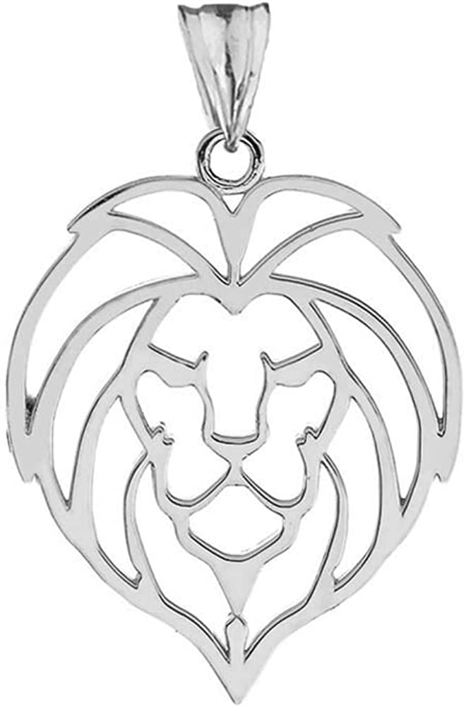 FB Jewels Solid 925 Sterling Silver Polished Antique Finish Leo Horoscope Pendant