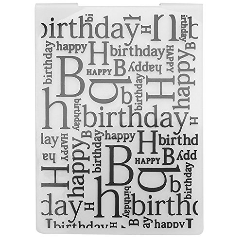 Loriver Plastic Embossing Folder Template DIY Scrapbook Paper Card Craft Happy Birthday Theme