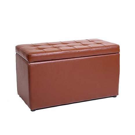 Fantastic Amazon Com Pu Leather Foot Stool Storage Stool Pouffe Bench Creativecarmelina Interior Chair Design Creativecarmelinacom