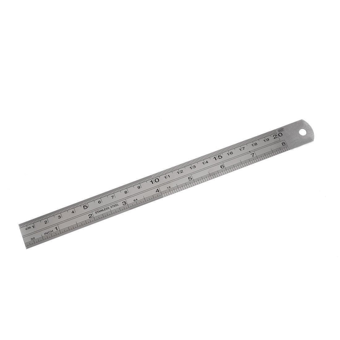 TOOGOO(R) Stainless Steel 20cm 8 Inch Metric Straight Ruler Measuring Tool