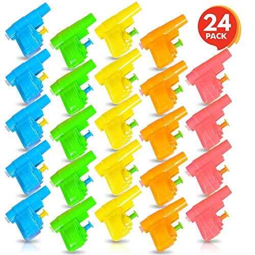 ArtCreativity Colorful Mini Water Guns (Pack of 24)| Fun Assorted Neon Colors | Great Pool and Beach Party Favor | Amazing Gift Idea for Boys and Girls Ages 3+