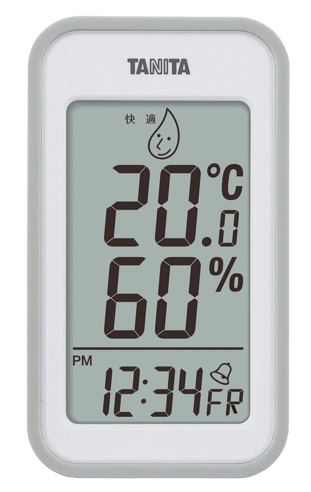 タニタデジタル温湿度計置き掛け両用タイプ TT-559-GY