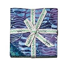 "Surf and Sand Batik Charm Pack, 42 - 5"" Quilt Squares by Island Batik"