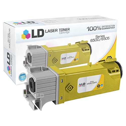 LD © Compatible Replacement for Xerox 106R01596 Yellow Laser Toner Cartridge for use in Phaser 6500, 6500N, 6500DN and WorkCentre 6505 Printers -  0.340