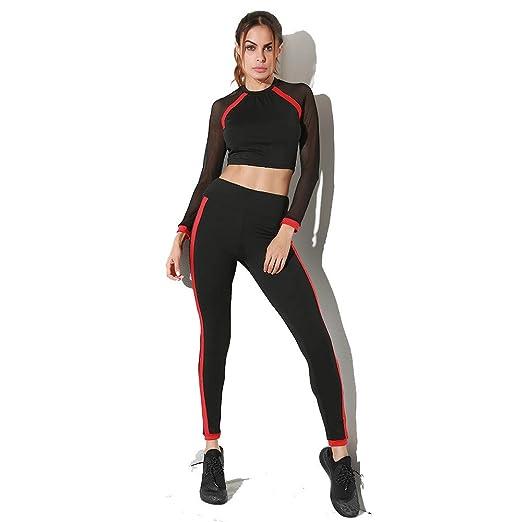 Weentop Set de Yoga para Mujer Cuello Redondo, Malla ...